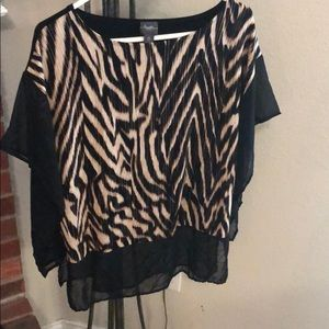 Chico's animal printed blouse